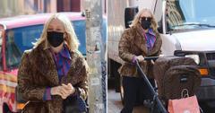 chloe sevigny looks fashionable in leopard coat in nyc
