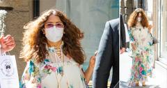 salma hayek wearing floral dress in rome okf