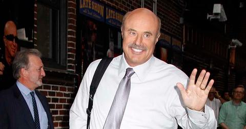 TV personality Dr. Phil McGraw arrives at the 'Late Show with David Letterman' studios in NYC