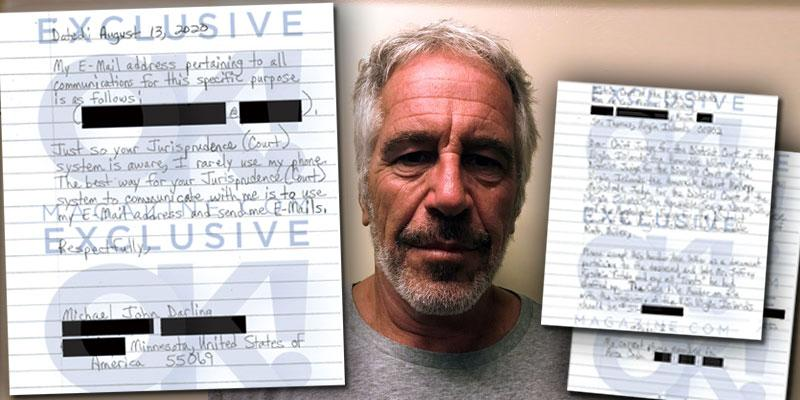 LETTER Minnesota Man Claims He's Jeffrey Epstein's 'Potential Heir,' Wants Money