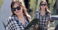 Dakota Johnson Plaid Shirt Los Angeles