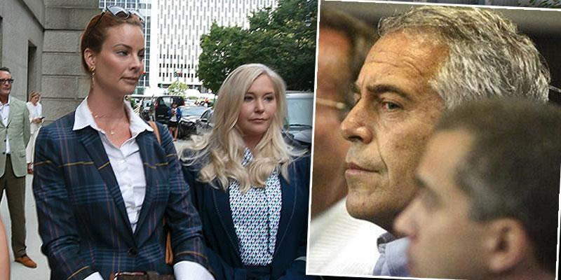 Jeffrey Epstein, inset, and Virginia Roberts Giuffre. Withdrew $800K In Cash Before Arrest, Transferred Millions To Victims