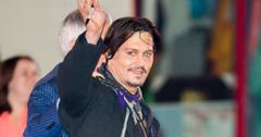 Johnny Depp greets fans at 'Mortdecai' Premiere in Hollywood, CA