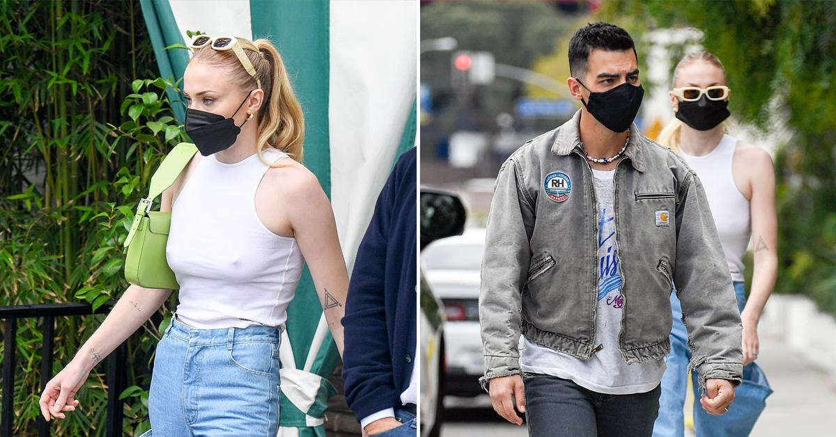 joe jonas and sophie turner lunch at the san vicente bungalows ok