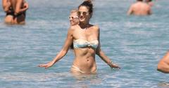 *EXCLUSIVE* Alessandra Ambrosio and Jamie Mazur enjoy a day at the beach with friends