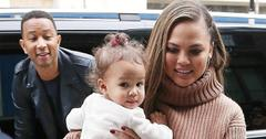 John Legend and Chrissy Teigen lunch in London with their daughter