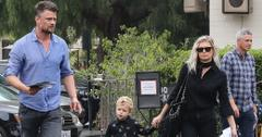 *EXCLUSIVE* Fergie and Josh Duhamel head to church with their son Axl