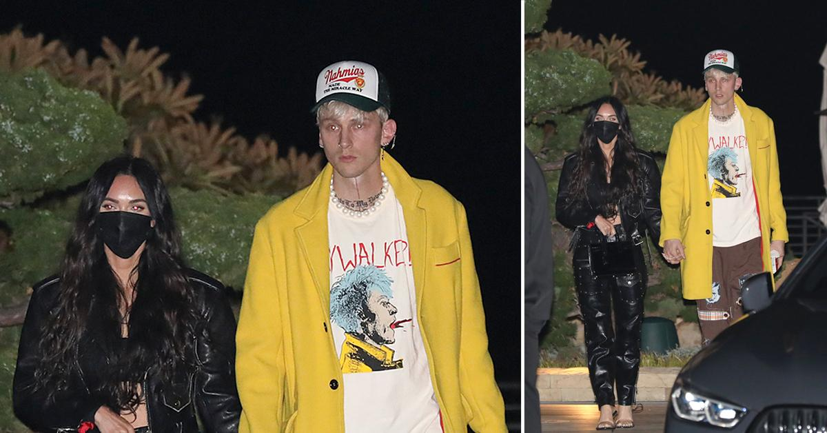 machine gun kelly celebrates his birthday with megan fox at nobu