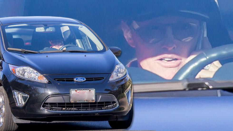 Bruce jenner talking on the phone while driving splash