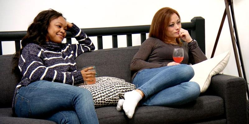 Married at First Sight women talking couch