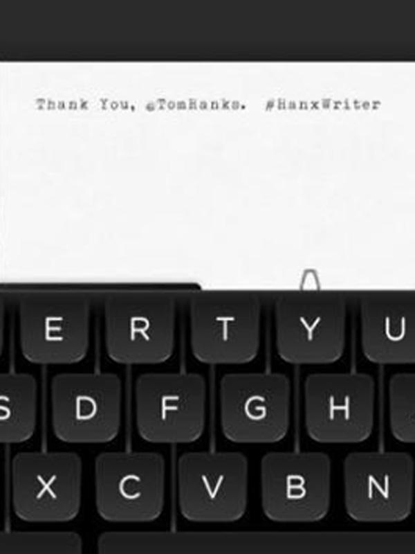 Tom hanks hanx writer app