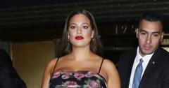 Ashley Graham In A Tight Floral Dress