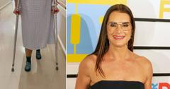 brooke shields broken femur recovery video pf