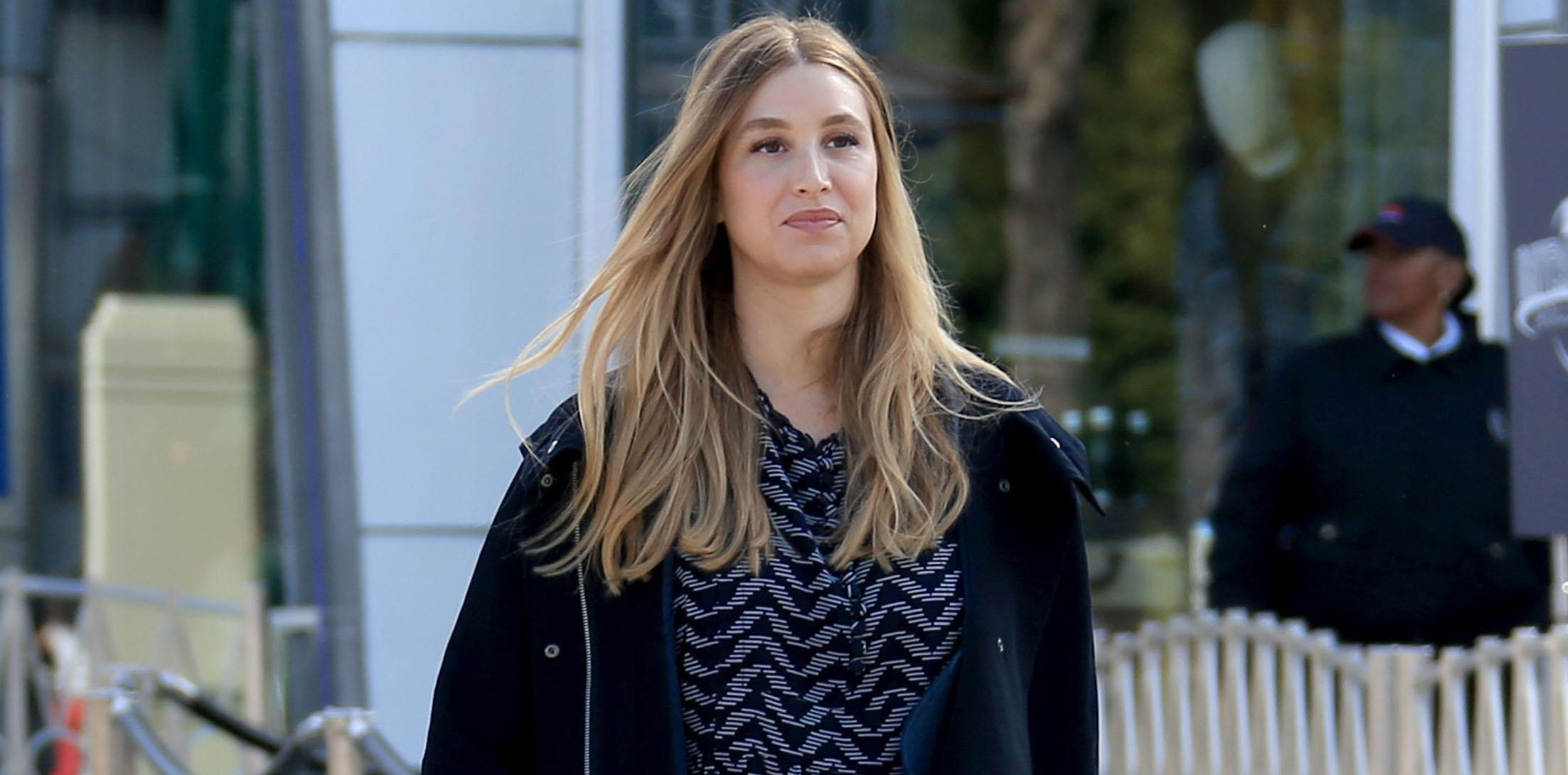 Pregnant Whitney Port visits Extra at Universal Studios