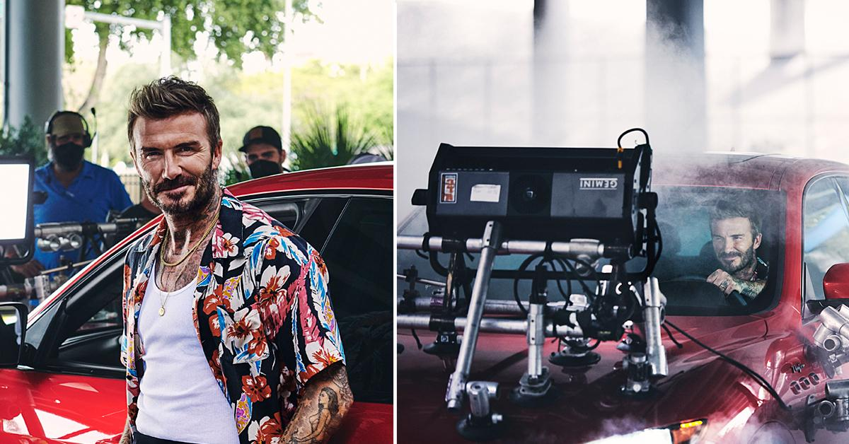 david beckham behind the scenes of maserati ad