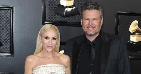 Gwen Stefani and Blake Shelton at the Grammy awards