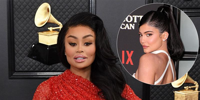 Blac Chyna On Red Carpet Kylie Jenner Inset