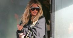 Khloe kardashian hides baby bump