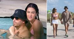scott disick amelia hamlin hit the beach in miami