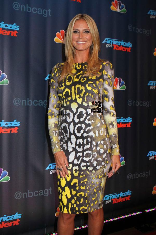 Heidi Klum at 'America's Got Talent' in Radio Music City Hall in NYC