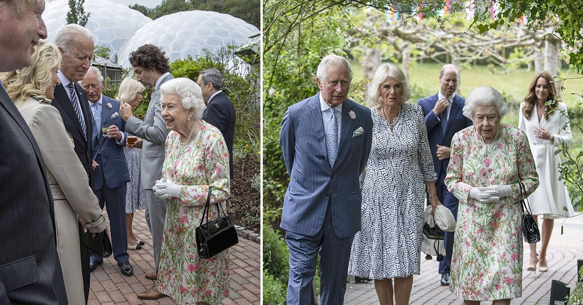 queen elizabeth and world leaders at the g summit