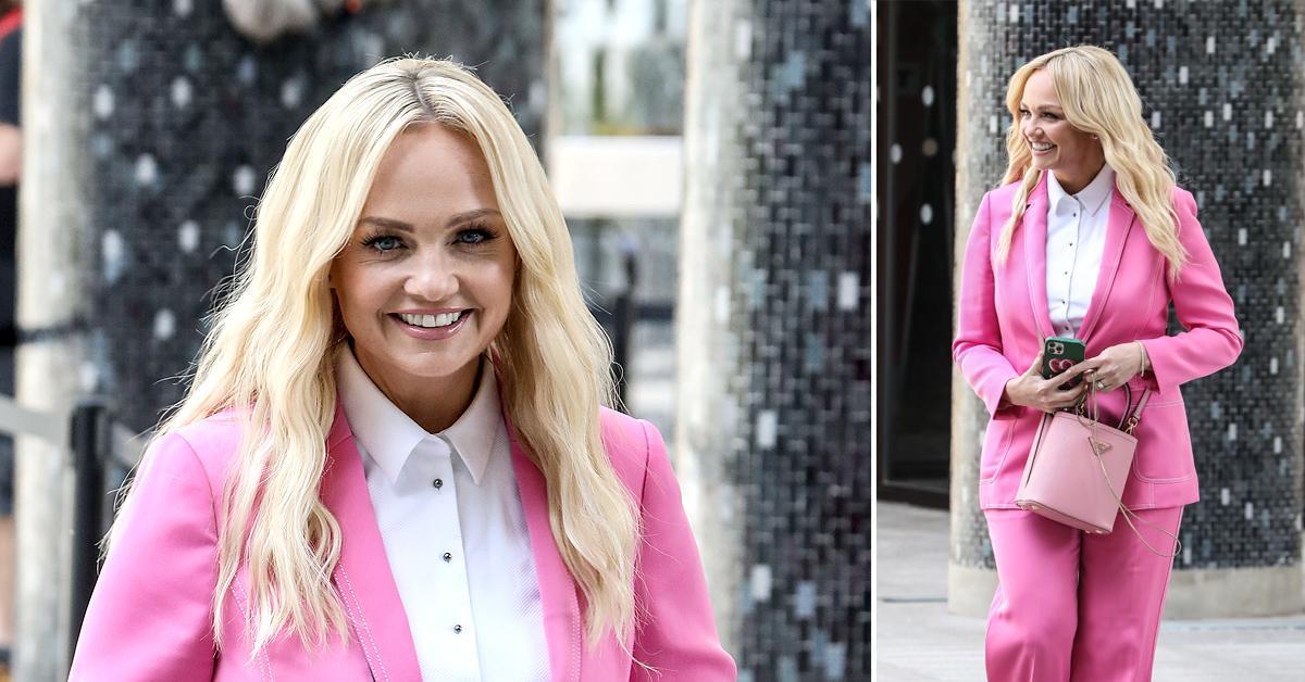 emma bunton baby spice pink suit itv studios