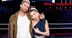 miley cyrus adam levine fighting the voice