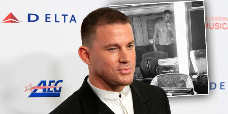 Channing Tatum Strips Down, Shows Abs In Selfie