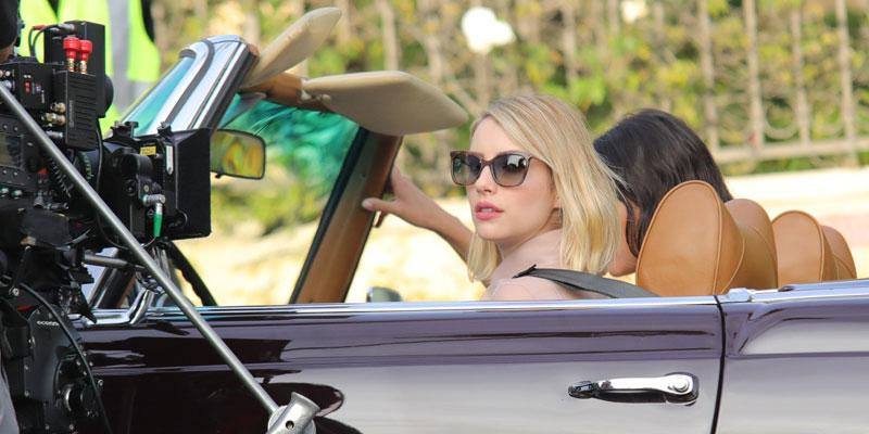 Emma roberts car scene post pic
