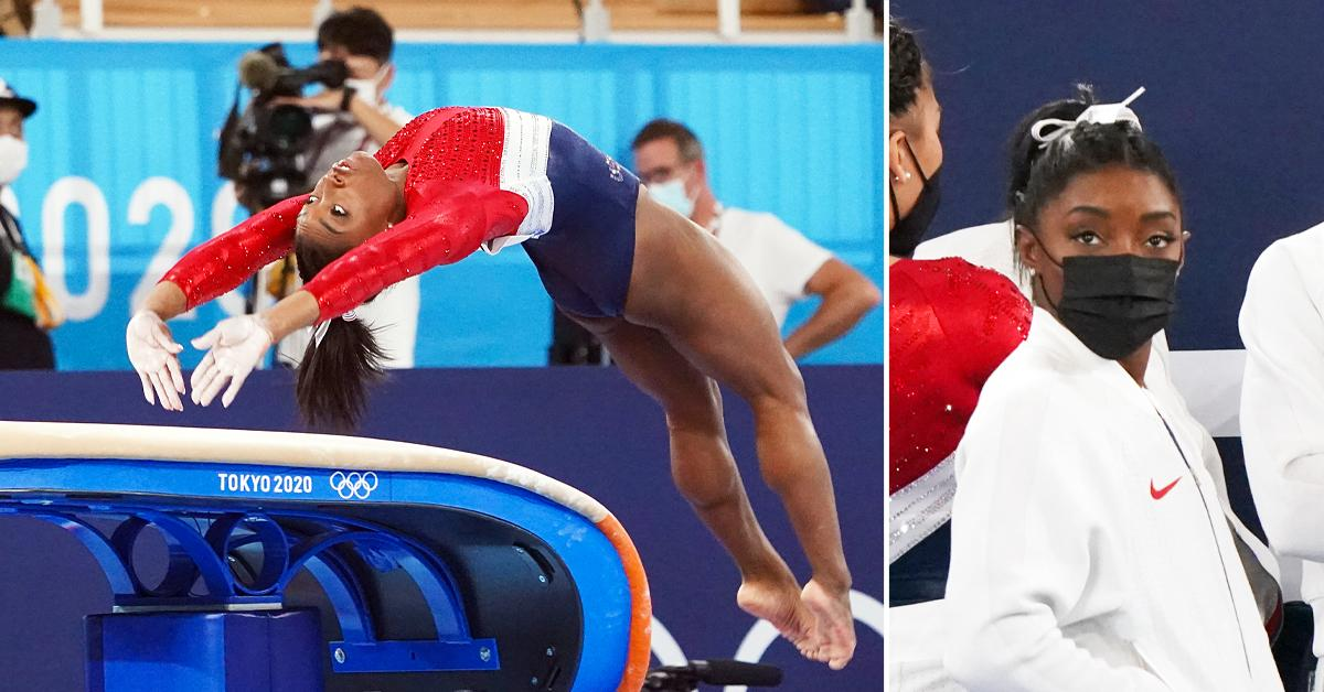 simone biles unexpectedly exists womens team final over medical issue ok