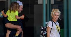 EXCLUSIVE: Gwen Stefani and Blake Shelton take Apollo to a children's gym in West Hollywood