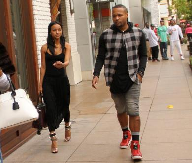 Karrueche Tran and a friend goes shopping at the Grove in Hollywood