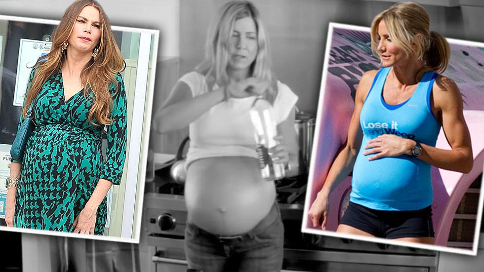 Celebrity fake baby bumps 02