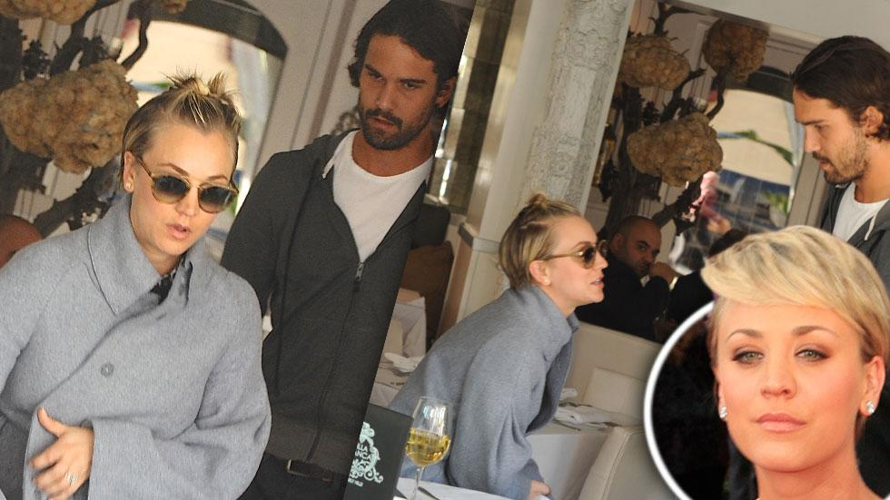 Kaley cuoco hiding marriage issues