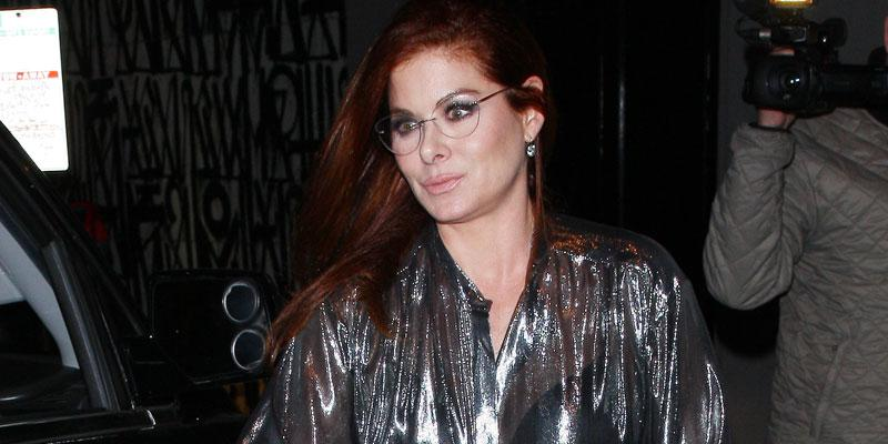 Debra Messing see through shirt