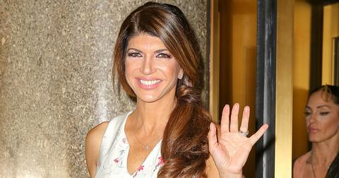 TV Personality Teresa Giudice spotted all smiling while leaving the NBC Studios in New York City