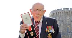 british veteran raised  million covid  relief hospitalized coronavirus captain sir tom moore