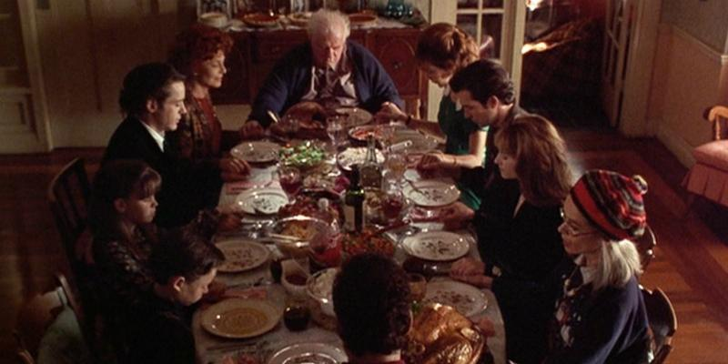 The cast of Home for the Holidays sat down for their Thanksgiving dinner, including Robert Downey Jr and Holly Hunter.