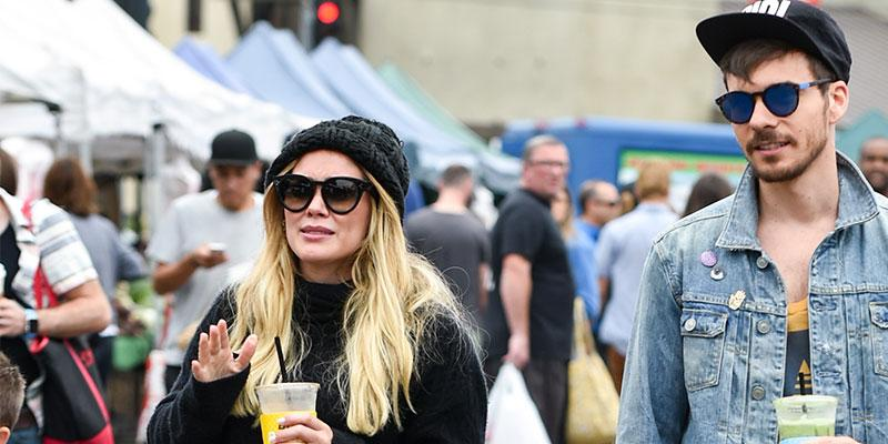 hilary duff mathew koma at farmer's market