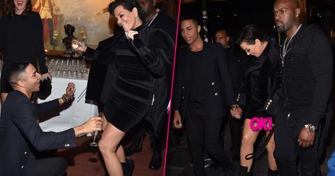 Kris jenner wardrobe malfunction short dress body