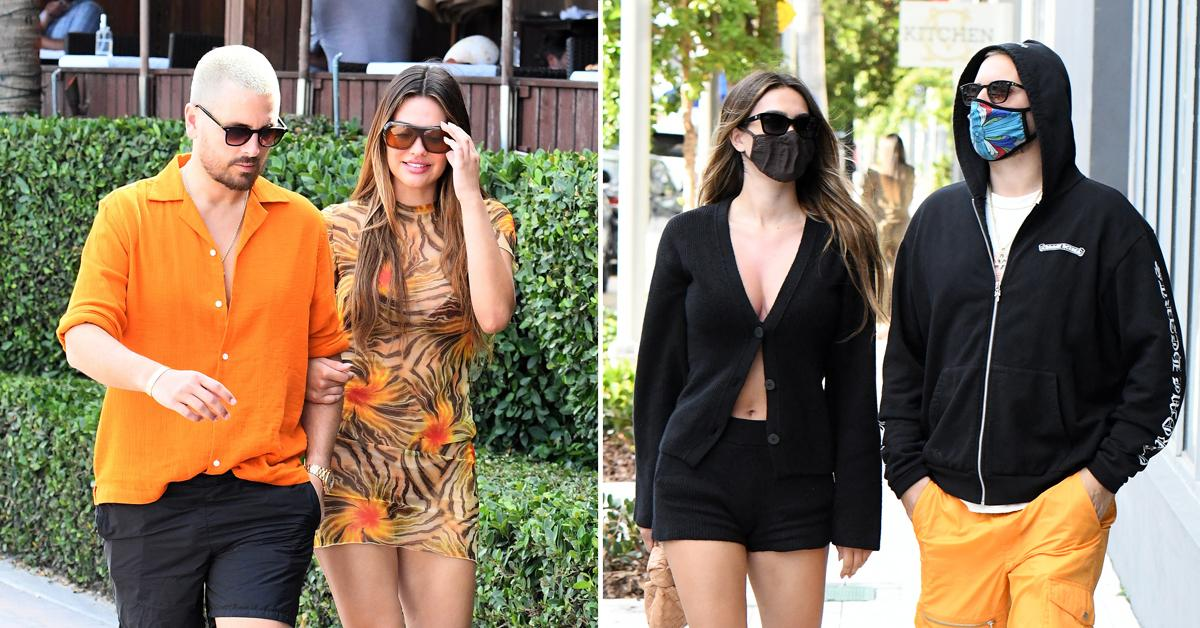 scott disick and amelia hamlin go shopping at chrome hearts in the miami design district pf