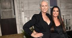 Jamie lee curtis kyle richards halloween premiere pics