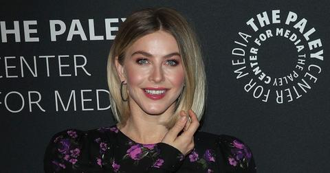 Julianne Hough Wearing A Patterned Dress on The Red Carpet