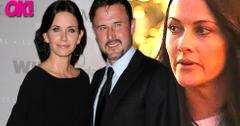 courteney cox david arquette reunited wife christine mclarty