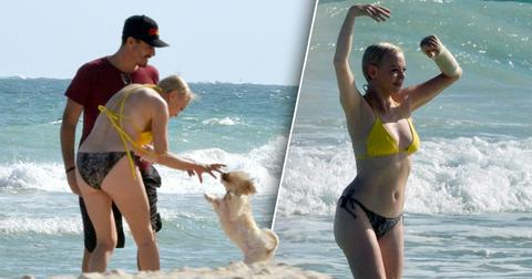 Rose McGowan hits the beach in Mexico