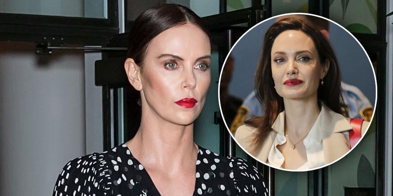 Charlize Theron Angelina Jolie Feud Rumors PP