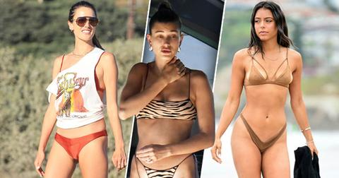 Celebrities Hit The Beach As Summer Fades Away