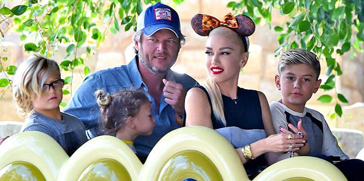 gwen stefani blake shelton stepfather children gavin rossdale