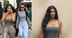kim kardashian promotes skims at pop up in the grove