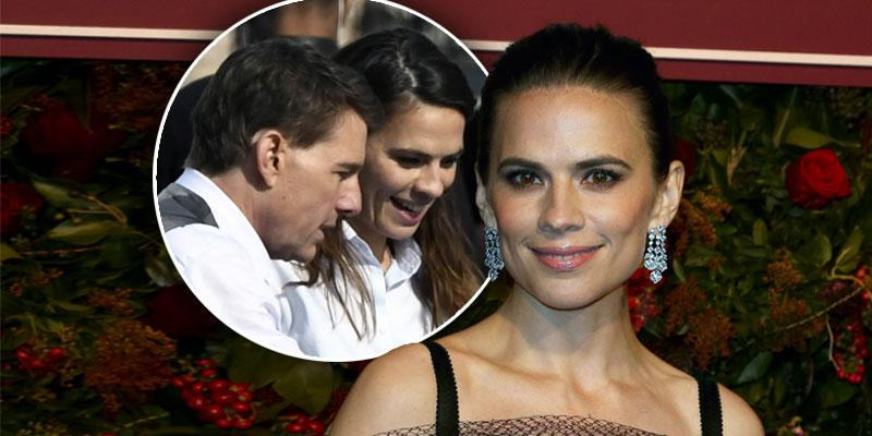 5 Fast Facts About Hayley Atwell, inset Haley and Tom Cruise